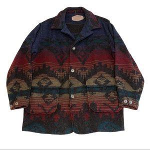 Woolrich VTG Southwestern Wool Blend Heavy Coat XL